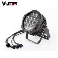 고품질의 야외 12LEDS 18W RGBAW + UV 6in1 LED 파 DMX 무대 조명을위한 LED uplight 파