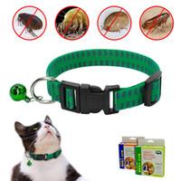 Katze Hund Flohhalsband Floh- und Zeckenhalsband Nylon Anti-Pest-Läusehalsbänder Töten Sie Läuse Parasiten-Entwurmung für kleine mittelgroße Hundekatze