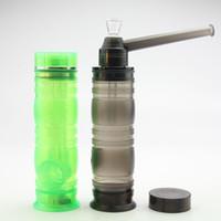TOPPUFF akrilik Bongs Vidalı Su Boruları En birlikte ve LED Taşınabilir Nargile Shisha Seyahat Sigara Aksesuarları Tütün Herb Tutucu puf
