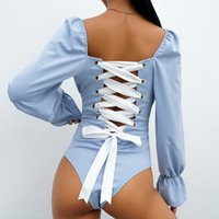 Women behind lace leotard sexy Puff Women' s Jumpsuits R...