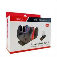 6 Dock İstasyonu Kontrolörü Şarj Tutucu Nintendo Anahtarı Joy-con Pro Kontrolör Şarj LED Göstergesi Şarj Standı 1'de