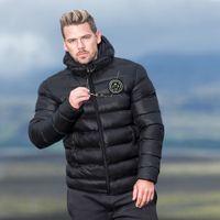 BUTZ Mens Kış Aşağı Ceket Parkas Casual Rüzgarlık Erkek Kalın Yastık Yaka Tasarımcı Ceket Açık Kabanlar