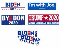 Joe Biden President 2020新しいキャンペーンバンパーステッカードナルドトランプカーステッカーPVCデカールアメリカプレジデントパターンアクセサリーD62903