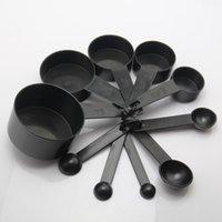 Cuchara medidora de plástico 10 pcs / set Cuchara dosificadora profesional con balanza de medición Conjunto de herramientas de cocción para hornear DH0027