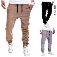 Hommes Pantalons simple Fitness hommes Vêtements de sport Survêtement Bottoms Skinny Sweatpants Pantalons Pantalons Gymnases Noir Jogger piste