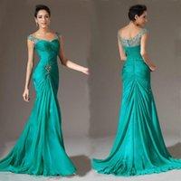 8541c6ad3 2019 elegante sirena noche de baile vestido de gasa evento de boda Madre de  dama de