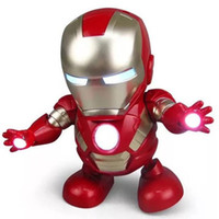 Dance Iron Man Action Figure Toy LED Flashlight with Sound A...