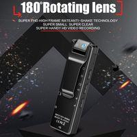كامل HD 1080P لبس مصغرة كاميرا الجسم مع 180 درجة تناوب عدسة لاسلكي واي فاي MINI كاميرا فيديو رقمية في متناول يدي دعم بطاقة TF مسجل