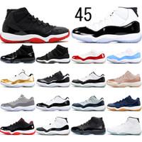NOVO Concord alta 45 11 11s PRM Heiress Gym Red Chicago Platinum Tint Espaço Jams Homens tênis de basquete esportes sapatilhas 36-47