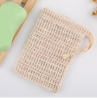 Jabón Blister Mesh Jabón de doble capa Net Foaming Net Easy Bubble Mesh Bag Jabón Sack Saver Pouch Drawstring Holder