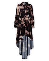 Femmes Robe à manches longues Boho Floral Baggy Casual Maxi Robe De Sundress Taille S-XXL