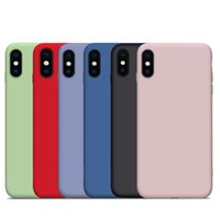 Atacado premium ultra-fino líquido silicone phone case para iphone 6 7 8 plus x xr xs max