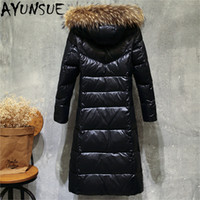 Women Winter 90% Duck Down Jakcet Long Hoody Large Fur Colla...
