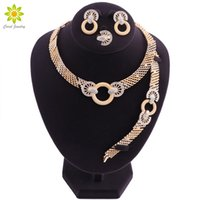 African Beads Jewelry Set in Gold Plated Wedding Jewelry Set...