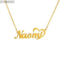 Kundenspezifische Namensschild-Anhänger-Halsketten-Edelstahl-personalisierter Namenshalsketten-Gold Farbe Baby-Freundin-Frauen-Geschenk