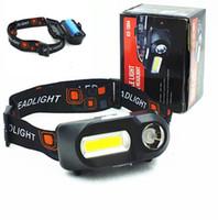 미니 USB는 18650 배터리 헤드 라이트 충전기 야외 캠핑 하이킹 헤드 손전등 토치 6 모드 COB 손전등과 헤드 램프를 chargied