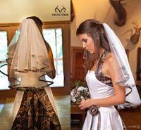 2021 мода камуфляжная свадьба свадебные вуалии с гребенью два слоя мягкий тюль Бесплатная доставка длина локтя дешевая дешевая свадьба вуаль высокое качество новое
