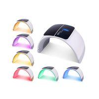 2019 Portable PDT acné traitement luminothérapie produit pliable led luminothérapie machine faciale 7 couleurs de photon usage domestique CE approvl DHL Fre