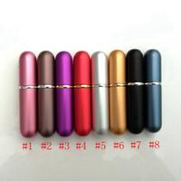 6ML Hervulbare Draagbare Mini Parfumfles Traveler Aluminium Spray Atomizer Lege Parfum Spray Atomizer Container Gereedschap 8Styles RRA2316