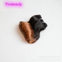 1B / 30 Funmi Curl pelo de las extensiones de Malasia Vírgenes tramas del pelo 10-26inch 1B 30 Ombre Color 100% del pelo humano teñido Funmi