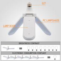 95-265V 45W E27 bombilla LED Super brillante plegable ventilador de ángulo Ángulo ajustable Lámpara de techo Hogar Ahorro de energía CE RoHS