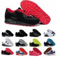 Nike Air Max 90 Flyknit Laufschuhe Be True Mixtape Triple Black White Men Frauen Klassisch Gelb Rot Sport Trainer Kissen Oberfläche Turnschuhe