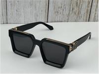 2019 Nouveaux hommes Marque Designer Sunglasses 96006 Millionaire Square Cadre Vintage Gold Shiny Summer Uv400 Style Laser Logo Laser Qualité supérieure