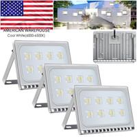 Ultraslim 50W LED 홍수 빛 2800-6000K 따뜻한 / 차가운 흰색 야외 보안 정원 풍경 스포트 라이트 Led 반사판 벽 램프 야외 Lightin