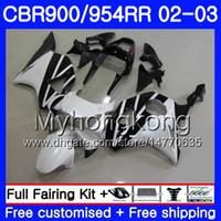 Bodys Pour HONDA CBR900RR CBR 954 RR CBR954RR 02 03 noir chaud blanc CBR900 RR 280HM.54 CBR 900RR CBR954 RR CBR 954RR 2002 2003 Kit de carénage