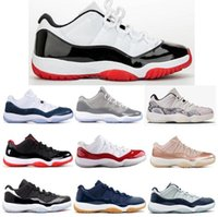 New 11 Low White Bred Snakeskin Cool Grey Navy Gum Barons Ba...