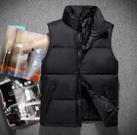 Горячие продажи мужчины зима пуховик Polartec жилет мужские спортивные куртки бомбардировщик воротник с молнией на открытом воздухе Размер жилета S-XXL