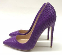 hot sale Purple Serpentine women' s High- heeled Shoes Fi...
