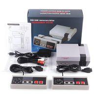 뜨거운 판매 미니 TV 비디오 엔터테인먼트 시스템 (620) 500 게임 콘솔에 대한 NES 게임 WTH 컨트롤러 소매 상자 포장