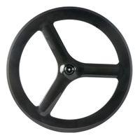 Profundidade 65 milímetros T700C estrada da bicicleta roda dianteira Tri raios da roda 700C 3 falou Clincher carbono roda dianteira somente