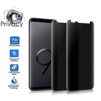 9H Edge Curved Privacy Tempered Glass Anti-Spy Film Preserver for Samsung Galaxy S10 S9 S8 Plus Note 8 NOTE 9 NOTE 10 PRO