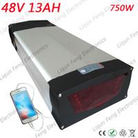 ЕС США нет налога Высокое качество ebike 48v 750w задний блок батарей 48v 13ah литий-ионный аккумулятор Bafang с зарядным устройством.