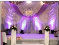 20ft * 10ft lusso nozze Tende fondale con eventi festoni e le tende del contesto di nozze tessuto parti tra cui paillettes mezzo