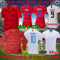 9df837d1a World Cup new 2019 women men copa America Soccer Jersey LLOYD RIPINOE  KRIEGER United States 19 20 PULISIC USA Football Shirt
