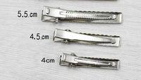 Único pino de metal Alligator acessórios para o cabelo grampos Cor Prata Cheap Hairclips Pin cabelo meninas de cabelo arco de flores Vestido Acessório 100PCS FJ3223
