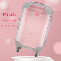 Commercio all'ingrosso ciglia finte imballaggio bagagli scatola di ciglia valigia ciglia di lusso visone imballaggio caso soffici e ricci vuoti