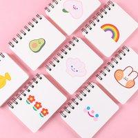80 개의 논문 귀여운 Kawaii A7 나선형 노트북 메모장 고품질 학생 선물을위한 휴대용 포켓 책