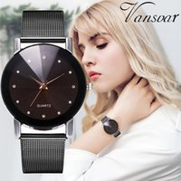 Women Watch Quartz Stainless Steel Wrist Watch Casual Quartz Stainless Steel Band Newv Strap Analog Wrist #B