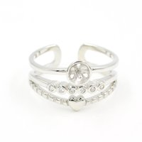 Оптовая продажа S925 стерлингового серебра кольцо монтажное 3-слойное кольцо крепления для женщин жемчужные украшения diy бесплатная доставка регулируемое открывающее кольцо