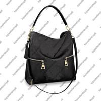 M44014 M44012 Melie Mujer Bolsa de hombro Bolso Forest Refless Cuero de vaca Cuero de Cuero Diseñador Top Manija Handbag Tote