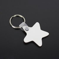 Wholesale 5000pcs DIY MDF Double White Blank Star Key Chain ...