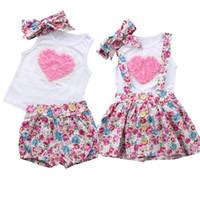 Pudcoco bebés arropa sistemas sin mangas de las camisetas + floral faldas / pantalones cortos + venda de 3 piezas de algodón del verano del niño infantil Trajes 0-6Y