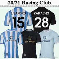 20 21 راسينغ كلوب روخاس BARBONA الرجال لكرة القدم الفانيلة يساندرو CVITANICH ZARACHO الرئيسية أزرق أبيض بعيدا 3RD قميص كرة القدم قصيرة الأكمام