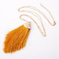 S1167 Горячая мода ювелирные изделия хлопковой нити кисточкой ожерелье дамы ожерелье Длинный свитер