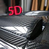 Sticker vinyle en fibre de carbone noir de 1pc carton brillant Sticker vinyle en fibre de carbone noir pour toiture Hoods Coffre-pare-chocs Bricoleurs Stickers Diy Stickers