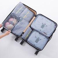 가방을 마무리 여행 7PCS 세트 보관 가방 다기능 홈 방수 의류 가방 대용량화물은 신발 가방 DH0851 T03로 설정